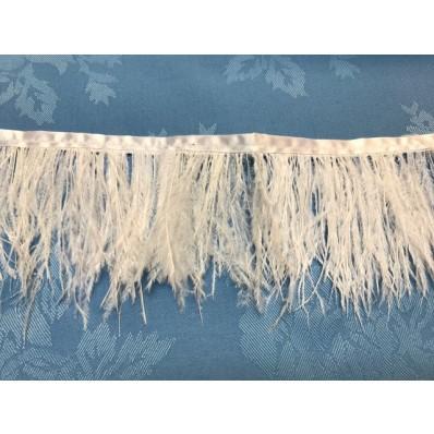 white ostrich fringe