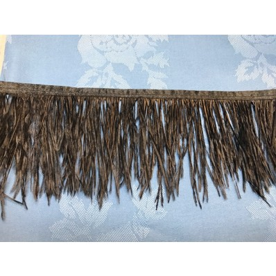 black ostrich feather fringe