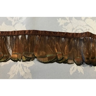 lady pheasant fringe dyed brown