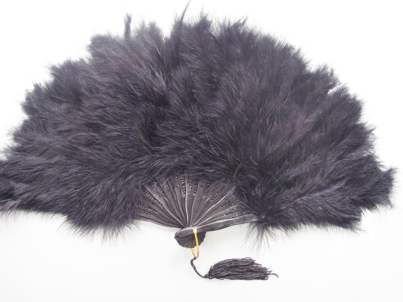 Black Feather Fan Feather Fan Feathers Amp Boas