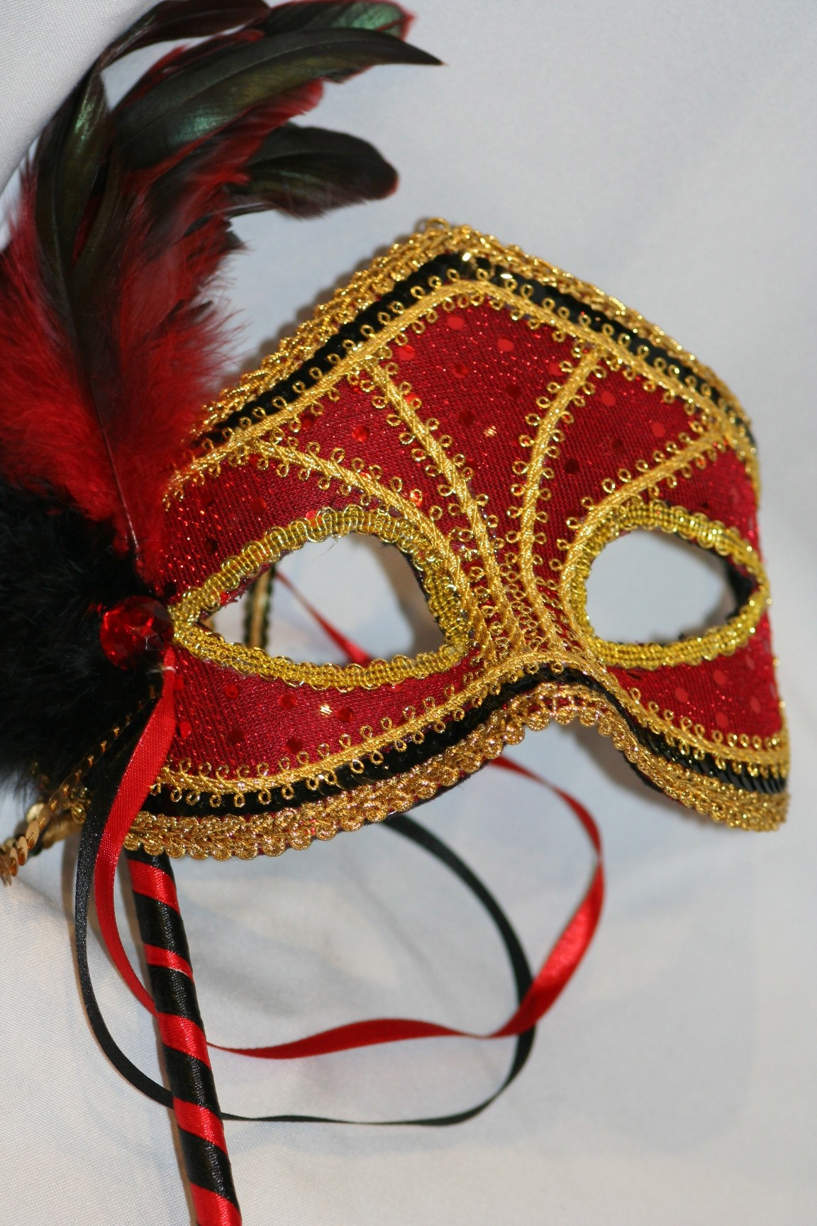 how to make masquerade masks on a stick