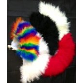 marabou hand feather fans