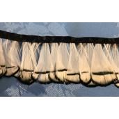 white pheasant feather fringe