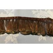 lady pheasant fringe dyed brown