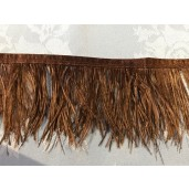 brown ostrich feather floaty fringe