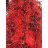 Ostrich Feather Boa red blk