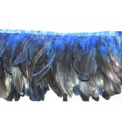 6/8inch Coque Feather Fringe blue