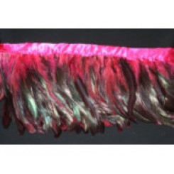 6-8inch Coque Feather Fringe pink