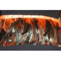 6-8inch Coque Feather Fringe orange