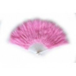 Baby pink feather fan
