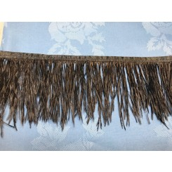 black ostrich feather fringe