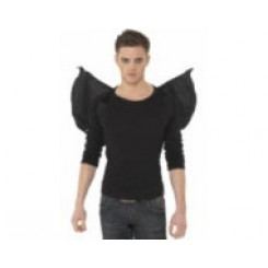 latex black bat wings