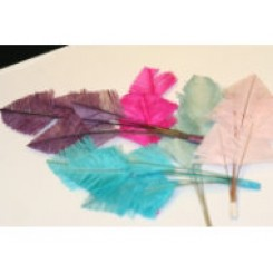 3 ostrich feather tip millinary mounts