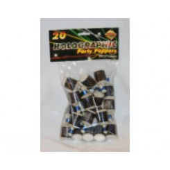 Party poppers black bag 30