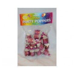 Party poppers pink bag 30