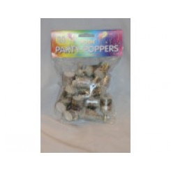 Party poppers silver bag 30