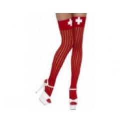 thigh high stockings red nurse