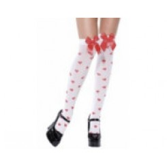 thigh high stockings with hearts